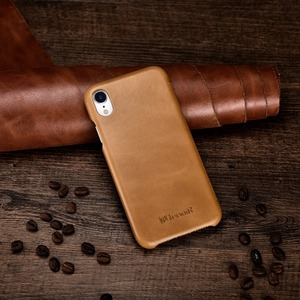 Image 5 - ICARER Luxury Vintage Genuine Leather Case For iPhone XR High Quality Handmade Flip Cover For iPhone XR Retro Leather Case