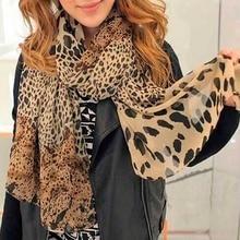 Hot Sale Silk Scarf Cashmere Chiffon Animal Print Super Star Style Leopard Shawl Scarves
