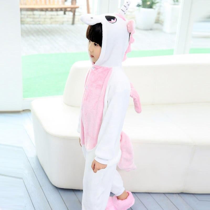 New Baby Boys Girls Pajamas Autumn Winter Children Flannel Animal funny animal dinosaur panda Pajamas Kid Onesie Sleepwear