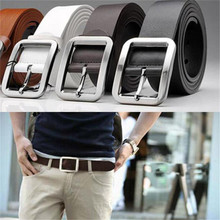 2017 new style men's casual Faux leather belt buckle waist leather belts for men high quality ceinture homme Riem