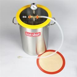 8.4Gallon (31.8 Liter) 30cm x 45cm Roestvrij Staal Vacuüm Ontgassen Kamer, Polycarbonaat Deksel