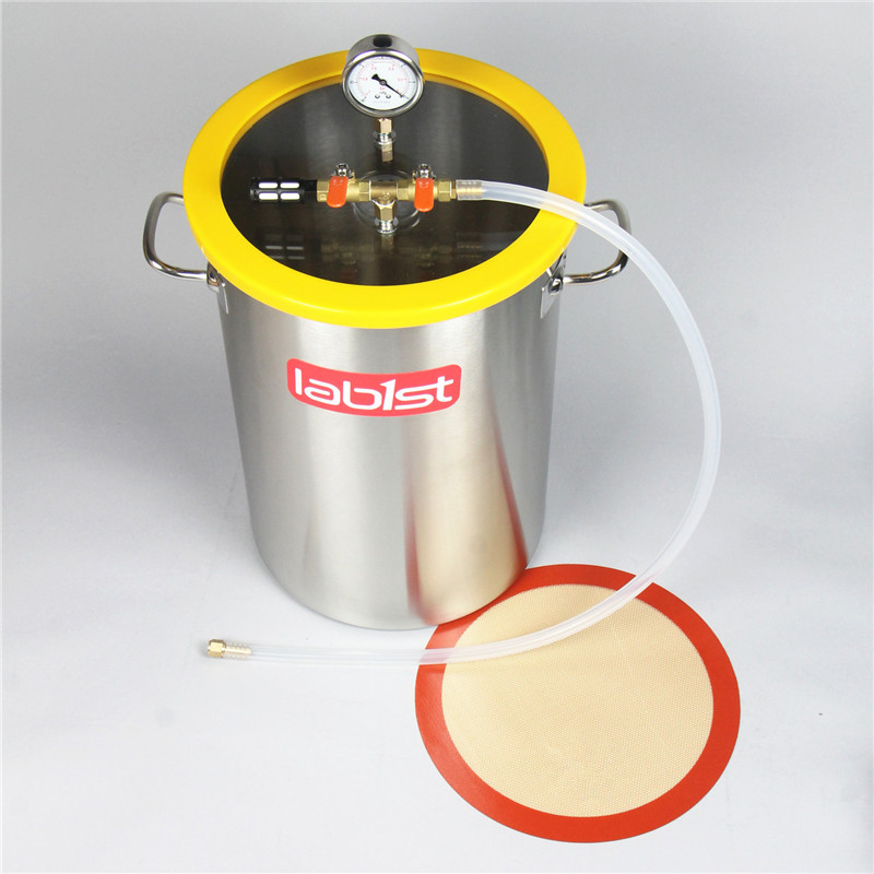 8.4Gallon (31.8Liter) 30cm X 45cm Stainless Steel Vacuum Degassing Chamber, Polycarbonate Lid
