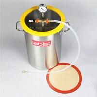 Câmara de desgaseificação do vácuo de aço inoxidável de 30cm x 45 cm  tampa do policarbonato 8.4 galões (31.8 litros)|vacuum degassing chamber|degassing chamber|vacuum degassing -