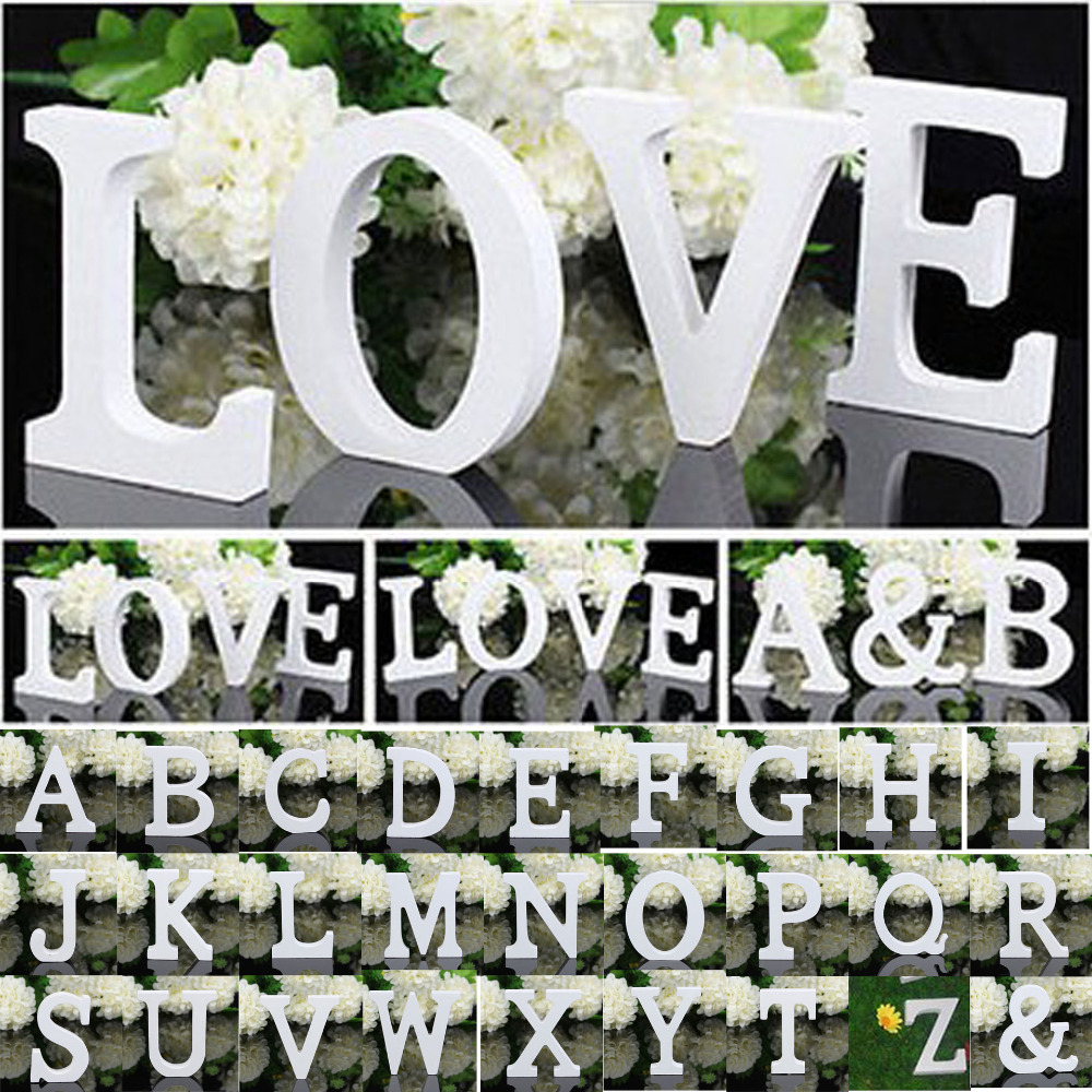 1 PCS Home Decoration Wood Wooden Letter Alphabet Word Free Standing Wedding Part Birthday