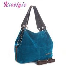 fab9e2879313 Kisstyle винтажные кожаные женские сумки для женщин 2018 bolsa feminina  Роскошные брендовые дизайнерские женские сумки на