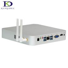 Kingdel Newest Silent Fan Metal Case i5 4260u i3 5005u Mini Computer Windows 10 8GB RAM x86 12V Desktop PC HDMI VGA 300M wifi