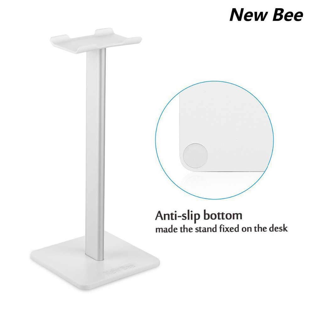 New Bee Metallic Headphone Stand Headset Holder Earphone Hanger Fashion Display for Headphones bracket White
