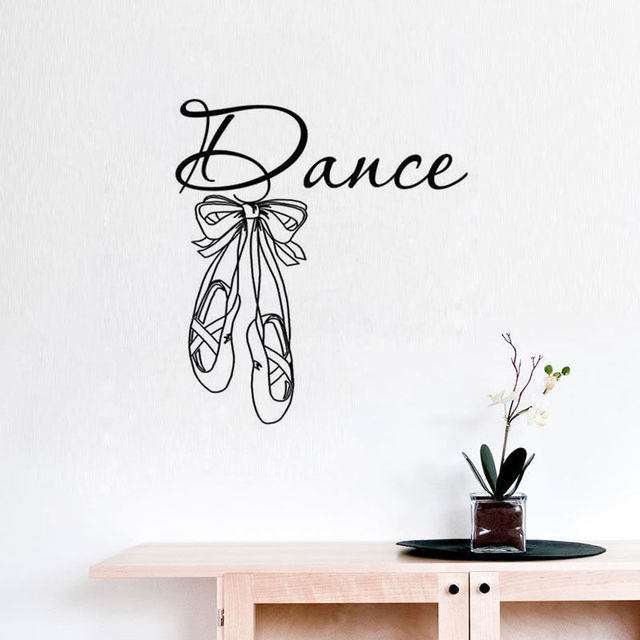 Dance Wall Decals Sticker BALLET SHOE WALL STICKER Dance Studio Wall Sticker