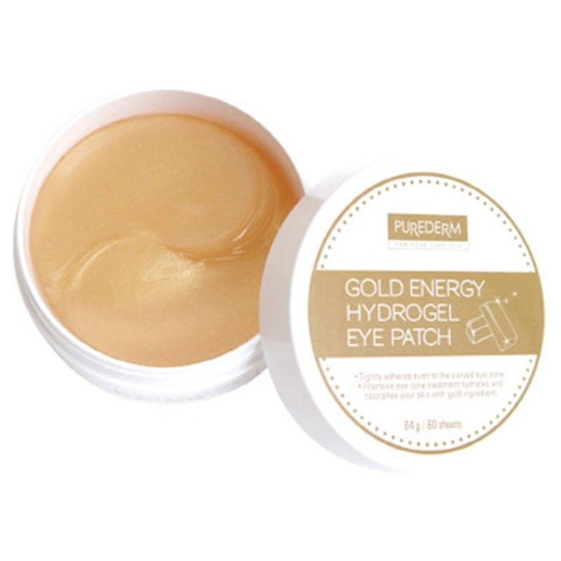 Best Korea Cosmetics PUREDERM Gold Energy Hydrogel Eye Patch 60 Sheets Gold Crystal Collagen Eye Mask Anti-Wrinkle