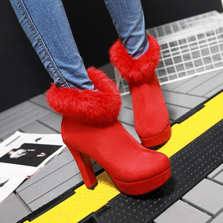 ФОТО Small yards autumn 2016 women's shoes 31  33 ultra high heels thick heel short boots plus size plus size 40 - 42 free shipping
