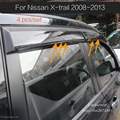 For NISSAN X-TRAIL Rogue 2008 to 2013 Smoke Window Visor cover trim Vent Shade Rain/Sun/Wind Guard car styling Awnings Shelters