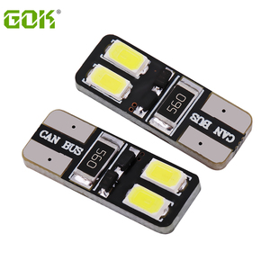 Супер яркие 500 шт./лот Автомобильные светодиодные T10 LED canbus W5W t10 4smd 5630 5730 Светодиодные canbus T10 4LED лампы без ошибок светодиодные