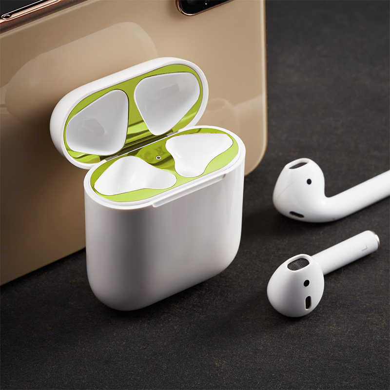 2019 New Plating Metal Dust Guard for Apple Airpods Case Dust Patch for Air  Pods Case Protection Sticker For AirPods Accessories