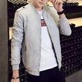 2016 baseball uniform male autumn outerwear casual jacket male slim men's clothing top thin