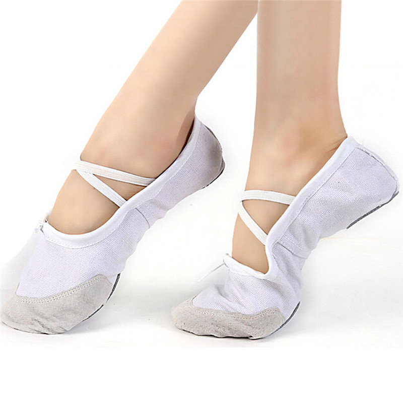 snowshine3 YLW Adult Canvas Ballet Dance Shoes Sli...