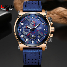 LIGE New Blue Watches Men Top Brand Sport Mens Quartz Clock Man Casual Military Waterproof Wrist Watch relogio masculino