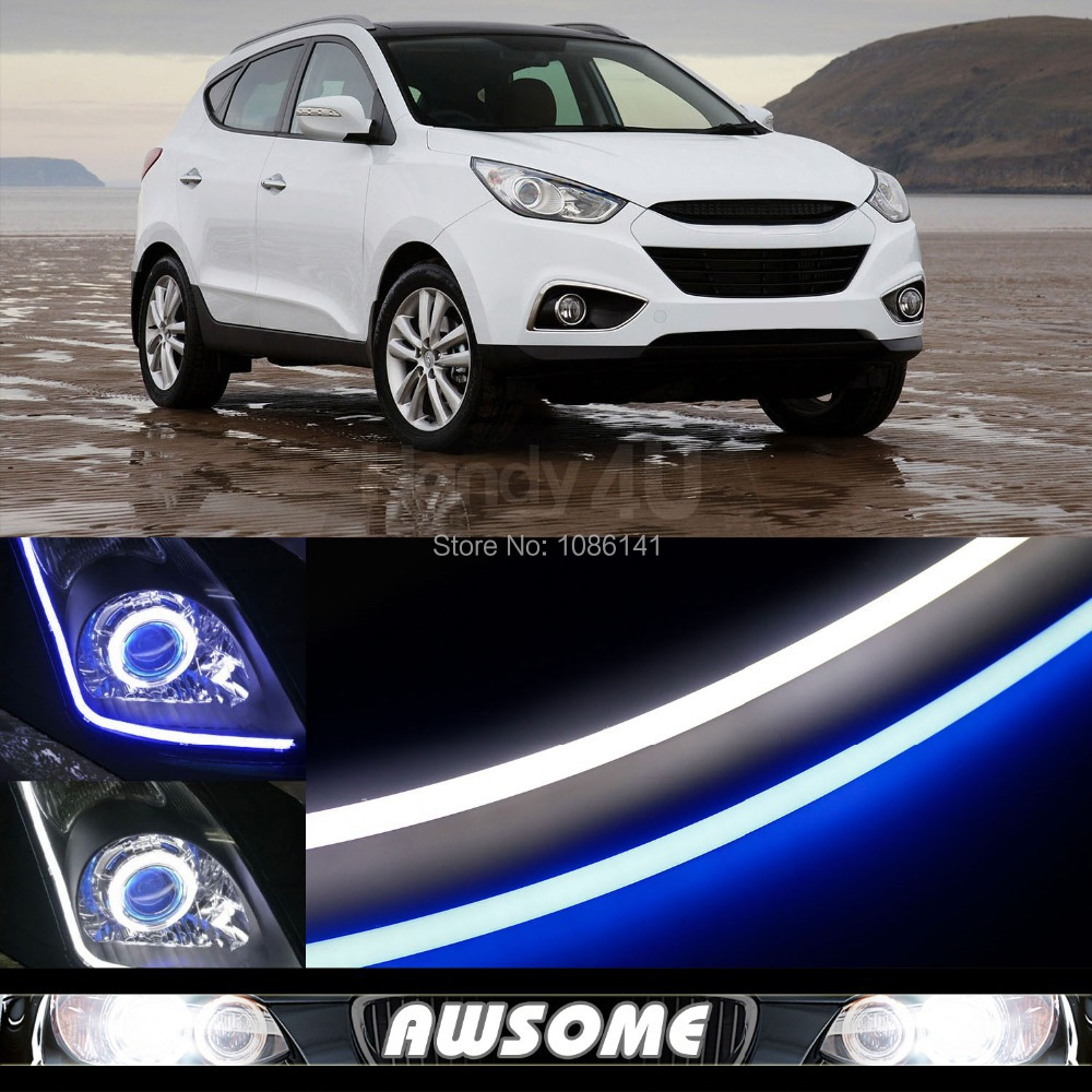 2x 60cm DRL Flexible LED Tube Strip Style Car Auto