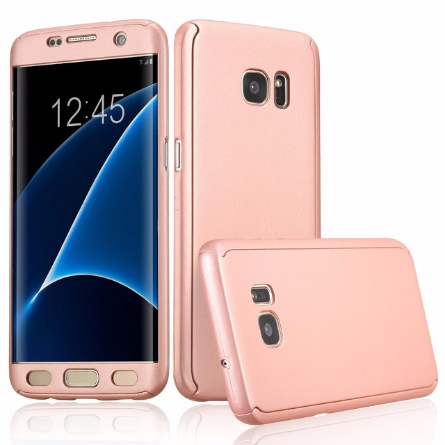 RHOADA Coque 360 Degree Full Body Phone Case For Samsung Galaxy S7 S6 dge J5 J7