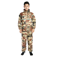 Overalls Long Raincoat Men Jacket Camouflage Waterproof Proncho Motorcycle Adult Jackets Rain Suit Pants Raincoats Hooded R5C144