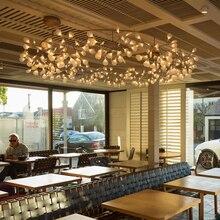 Современные ветви дерева привело подвесной светильник творческая личность ветви firefly Скандинавском стиле гостиной ресторан зал лобби лампы