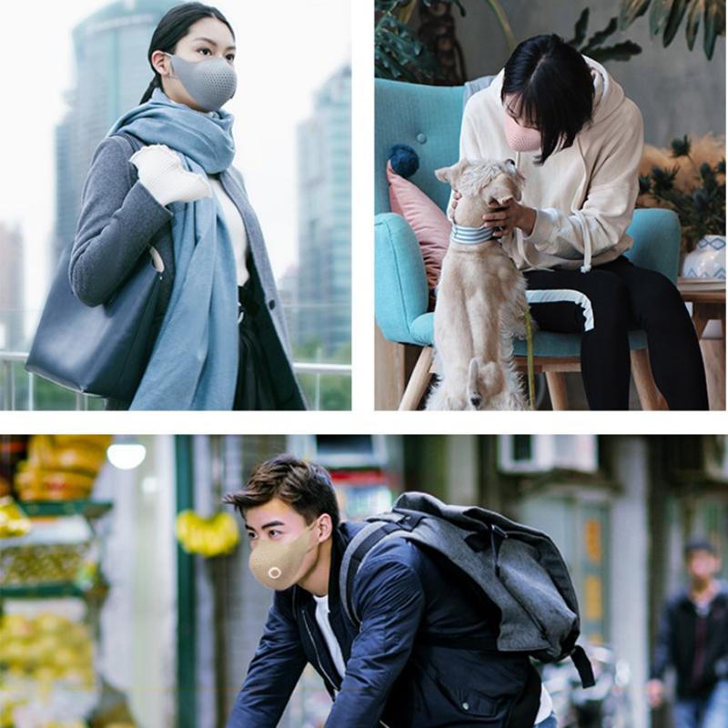 Xiaomi AirPOP Air Wear PM0.3 Anti-haze Face Mask With 4pcs Filter Adjustable Ear Hanging Comfortable Face Masks 4 Colors (2)