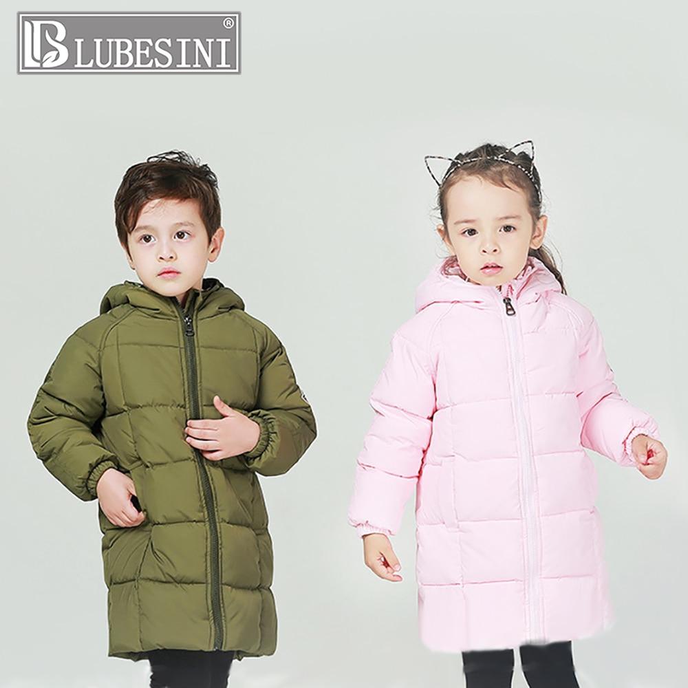 LUBESINI Kids Girls Boys Winter Light White Duck Down Coat Kid Jacket Hooded Long Sections Children Clothes Warm Parka Outerwear стоимость