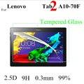 Высокое Качество для Lenovo Tab2 Tab 2 A10-70F 10.1 ''Tablet Утра-тонкий Премиум Закаленное Стекло Экрана Защитная Пленка