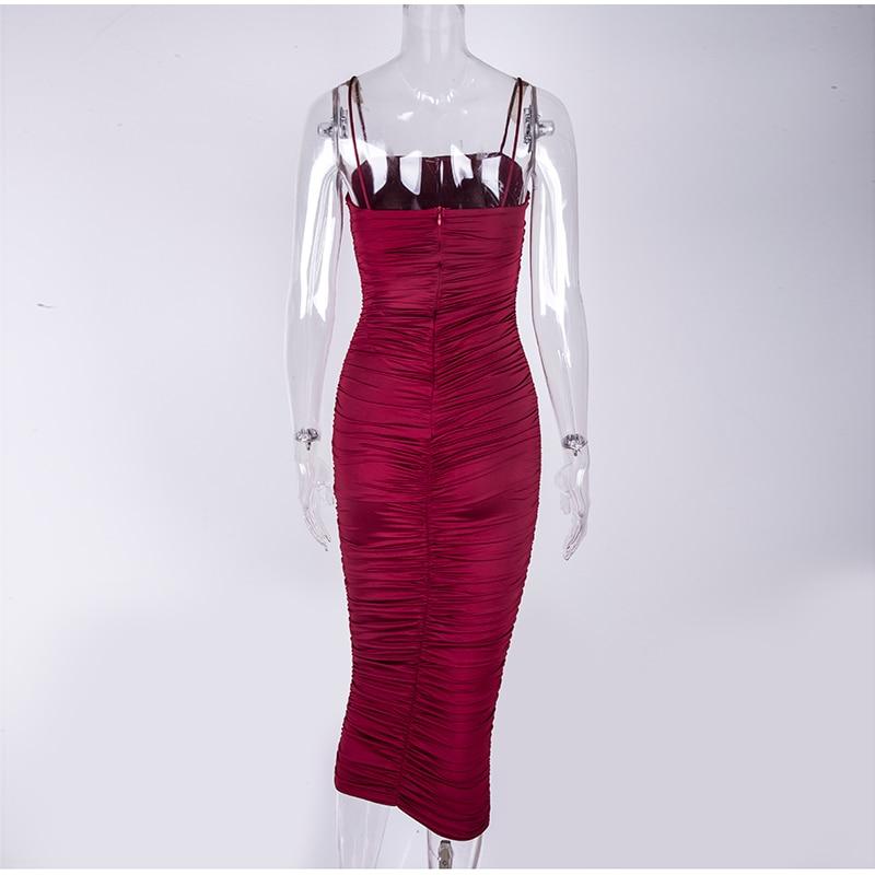 HTB1s6KSXBv0gK0jSZKbq6zK2FXaa - NewAsia 2 Layers White Summer Dress Women 2020 Elegant Straps Ruched Maxi Dress Pink Long Dress Sexy Dresses Party Night Robe