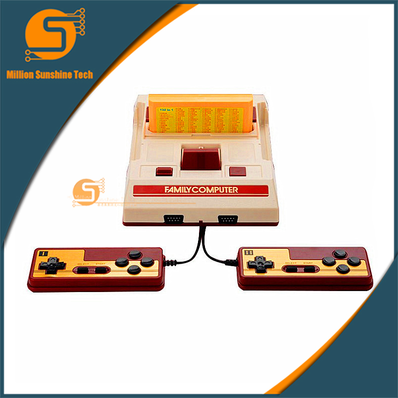 Video Game Console To TV With 2 Gamepads Controller For 8 bit Family TV game +Free 623 in1 and 132 In1 game cards