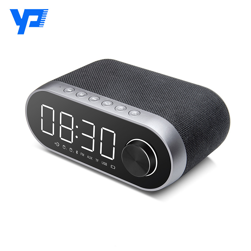 Multi-function Bluetooth Speaker With Alarm Screen Clock Waterproof Bluetooth Column Portable Bluetooth Wireless Speaker wireless multifunctional v4 0 edr bluetooth speaker touch control with nfc function