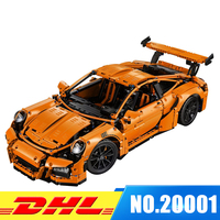 IN STOCK LEPIN 20001 Technic Series 911 Racing Car DIY Set Educational Building Blocks Bricks Toys