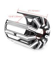 Oil Filter Cover Cap Trim For Harley Davidson CNC Aluminum Alloy Motorcycles Accessories Parts Black Chrome