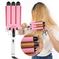 25mm Professional Three Barrels Hair Curler Ceramic Waver Hairstyle Tools