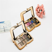 Hot 10color Diamond Bright Colorful Eye Shadow Palette Shining Mineral Glitter Eyeshadow Fluorescence Shine Gloss