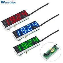 3 in 1 Diy Digitale Uhr Temperatur Spannung Kit DS3231SN 5-30V DC diy elektronische Rot Blau Grün LED Uhr Modul Für Arduino