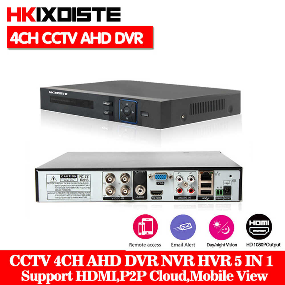 ผลิตภัณฑ์ 4CH AHD DVR Hybrid 1080 P HDMI AHDNH กล้องวงจรปิดกล้องเครือข่าย 4 ช่อง 4CH อินพุตเสียงหลาย - ภาษานาฬิกาปลุก