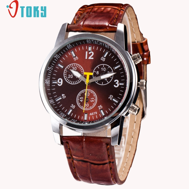 Excellent Quality OTOKY Watches Men Luxury Quartz Watches Leather Casual Wristwatch Male Clock Relojes hombre Relogio Masculino v6 luxury brand beinuo quartz watches men leather watch outdoor casual wristwatch male clock relojes hombre relogio masculino