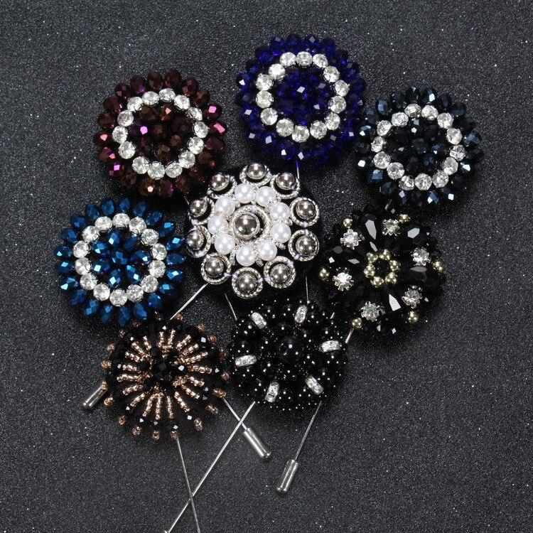 Wedding Lapel Pins: Wedding Lapel Pins Suits Pure Bead Classic Men Women