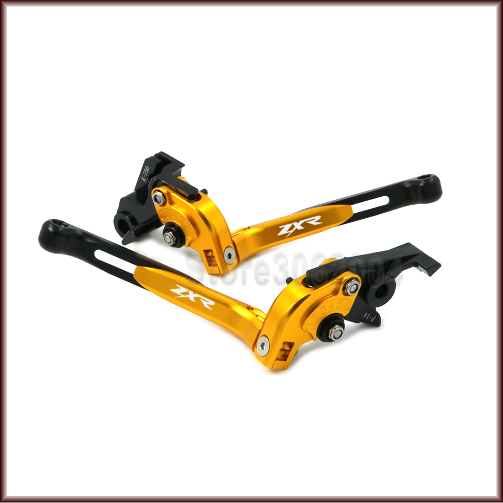 For KAWASAKI ZXR400 ZXR 400 1990 1993 1992 Motorcycle Accessories Folding Extendable Adjustable Brakes Clutch Levers