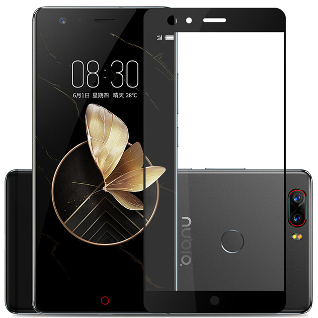 Tempered Glass For ZTE Nubia Z11 Max Z17 Mini M2 Lite Blade V8 A2 Plus Full Screen Cover Explosion-proof Screen Protector Film