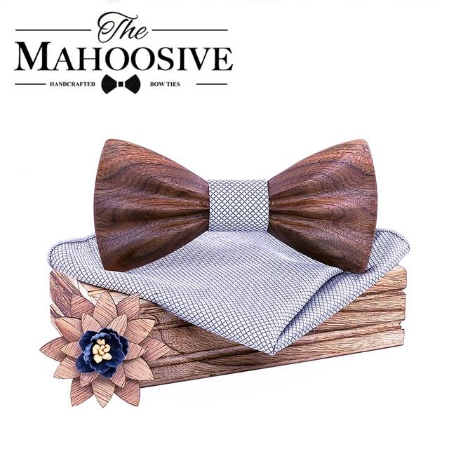 Boy's Fashion Wooden Bow Tie Set 1