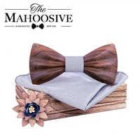 2019 bois en bois noeud papillon camisas mujer Floral noeud papillon modis gravata cravate cravates pour hommes cravate homme noeud papillon chemise femme