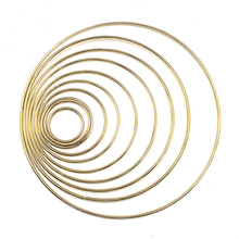 1pack/lot Gold Color Big Dream Catcher Circle Ring Craft 35-190mm Metal Rings For Catchers Hoops Hanging DIY Connectors