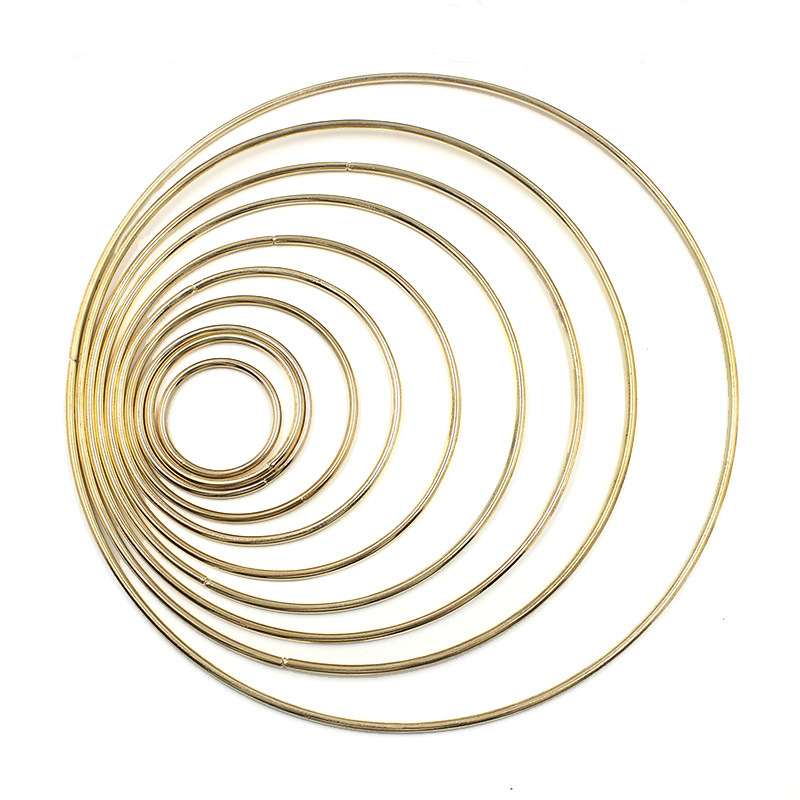 1pack/lot Gold Color Big Dream Catcher Circle Ring Craft 35-190mm Metal Rings For Dream Catchers Hoops Hanging DIY Connectors(China)