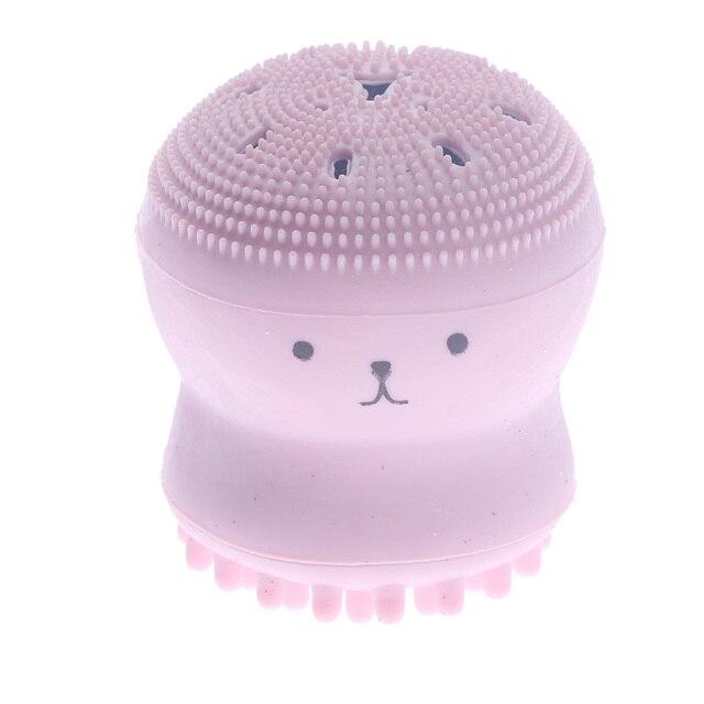 Cepillo de limpieza Facial de silicona con forma de pulpo pequeño y bonito Animal