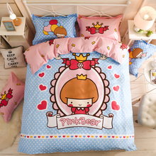купить Hot sale Home Textile 3/4pc Bedding Sets Size for Twin Full Queen king Home Hotel Bed Linen Bed Sheets Duvet Cover Set-33 colors дешево
