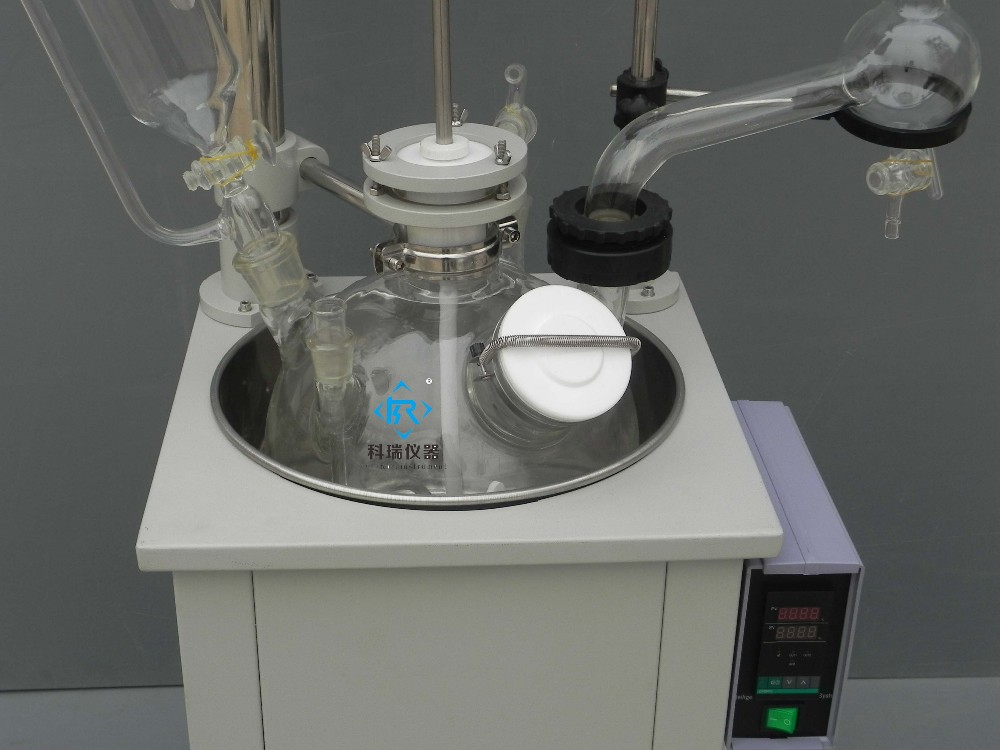 10L Jacketed Bioreactor Glass-Lined Reactor for Laboratory Heating Equipment with High borosilicate GG3.3 and ditigal display acidic protease production in air lift bioreactor by rhizopus arrhizus