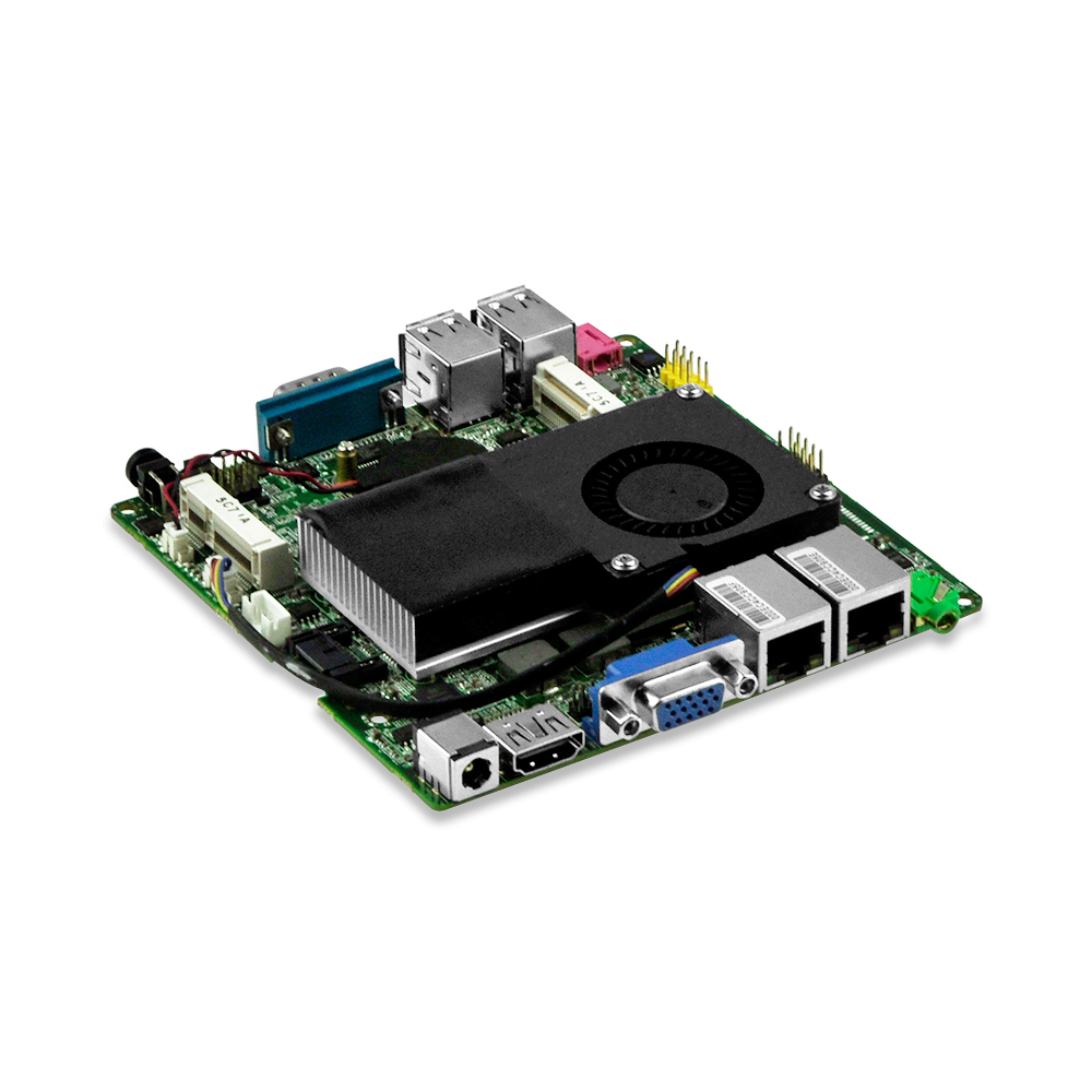 I3-3217U Dual core mini itx x86 embedded fan motherboard with dual Gigabit LAN ports, 1*RS232, 4*USB3.0,1*VGA,1*HD Free shipping