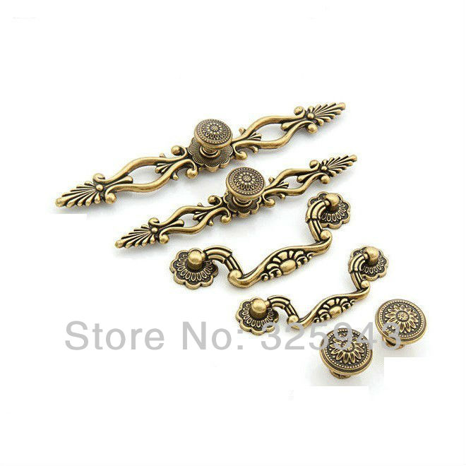 Exceptionnel 10PCS 76mm Vintage Kitchen Cabinet Knobs And Handles Furniture Bedroom  Antique Door Drawer Pulls A1038 In Cabinet Pulls From Home Improvement On  ...