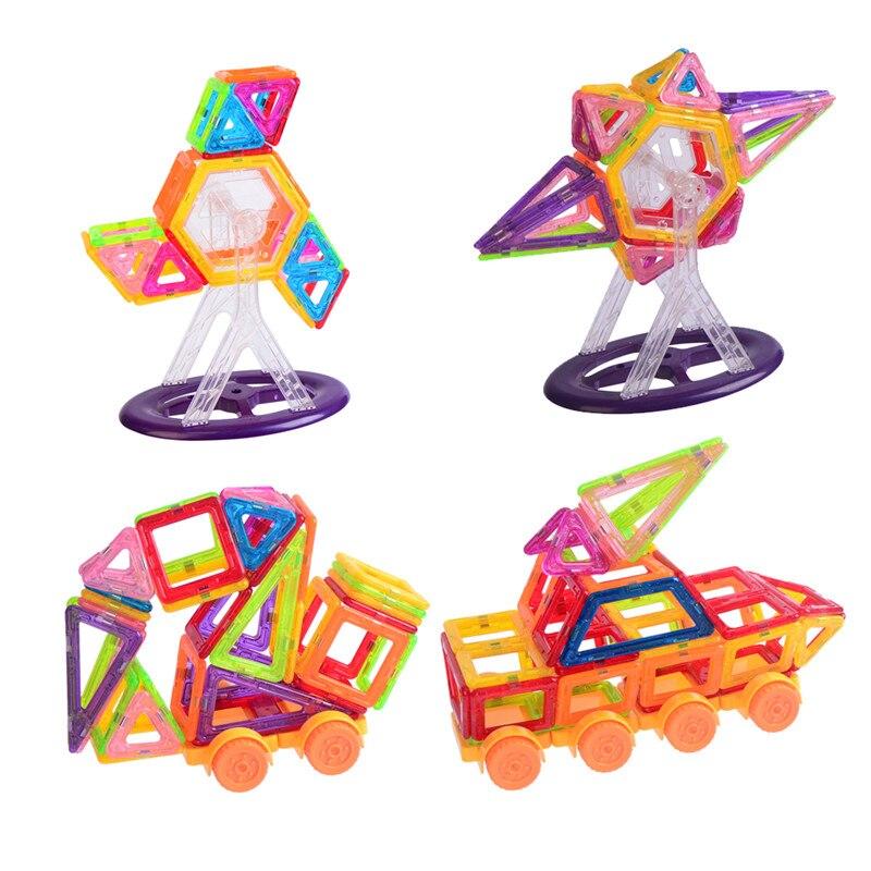 110PCS Brand Mini Magnetic Building Blocks DIY Educational Construction Designer Bricks Plastic Children Toys